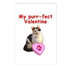 Purrfect Valentine Cat Postcards (Package of 8)