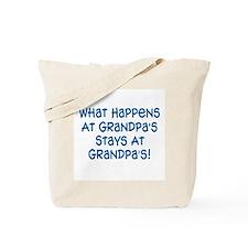 Stays At Grandpa's Tote Bag