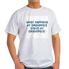 Stays At Grandpa's Ash Grey T-Shirt