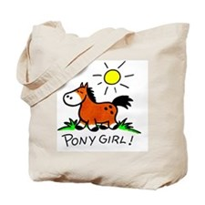 Brown pony Tote Bag