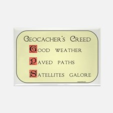 Geocacher's Creed Rectangle Magnet