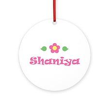 """Pink Daisy - """"Shaniya"""" Ornament (Round)"""