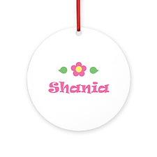 """Pink Daisy - """"Shania"""" Ornament (Round)"""