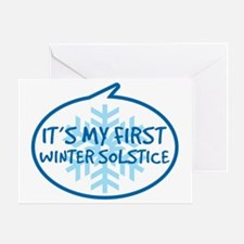 Babys First Winter Solstice Greeting Card