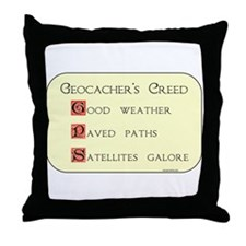 Geocacher's Creed Throw Pillow