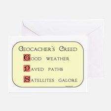Geocacher's Creed Greeting Cards (Pk of 10)