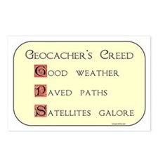 Geocacher's Creed Postcards (Package of 8)