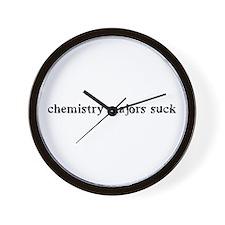 6 inch chem majors suck Wall Clock