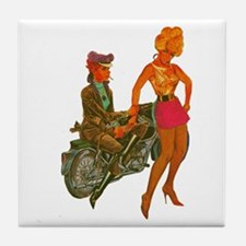 LEATHER DYKE Tile Coaster