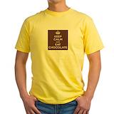 Chocolate sayings Mens Yellow T-shirts