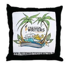 FWF_Beach_Logo_Shirt Throw Pillow