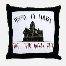 2-GetOut Throw Pillow