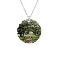 Live Oaks Necklace Circle Charm