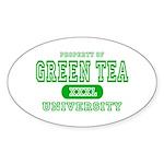 Green Tea University Oval Sticker