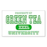Green Tea University Rectangle Sticker