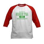 Green Tea University Kids Baseball Jersey