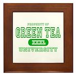 Green Tea University Framed Tile