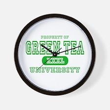 Green Tea University Wall Clock