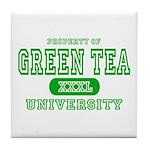 Green Tea University Tile Coaster