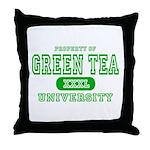 Green Tea University Throw Pillow