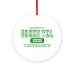 Green Tea University Ornament (Round)