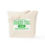 Green Tea University Tote Bag