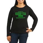 Green Tea University Women's Long Sleeve Dark T-Sh