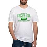 Green Tea University Fitted T-Shirt