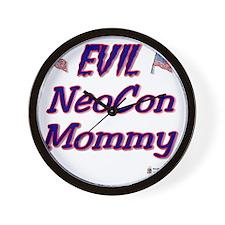 neocon mommy Wall Clock