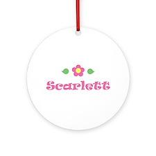 "Pink Daisy - ""Scarlett"" Ornament (Round)"