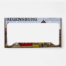 Regensburg - Along the Waterf License Plate Holder