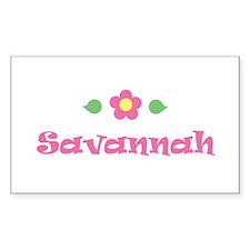 "Pink Daisy - ""Savannah"" Rectangle Decal"