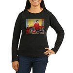 El DJ Booth Women's Long Sleeve Dark T-Shirt