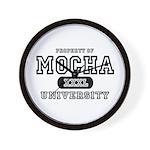 Mocha University Wall Clock