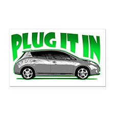 Nissan Leaf Plug it in Electr Rectangle Car Magnet