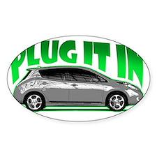 Nissan Leaf Plug it in Electric Decal