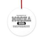 Mocha University Ornament (Round)
