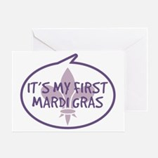 Babys First Mardi Gras Greeting Card
