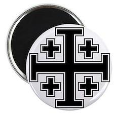 Cross Potent - Jerusalem - Black 2 Magnet