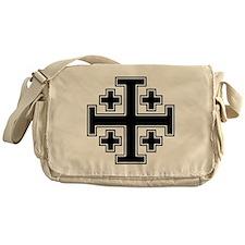 Cross Potent - Jerusalem - Black 2 Messenger Bag
