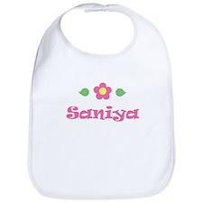 """Pink Daisy - """"Saniya"""" Bib"""