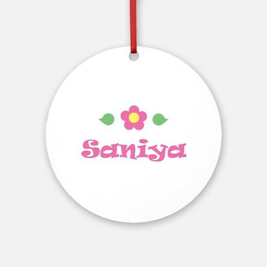 """Pink Daisy - """"Saniya"""" Ornament (Round)"""