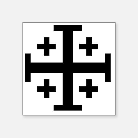 """Cross Potent - Jerusalem -  Square Sticker 3"""" x 3"""""""