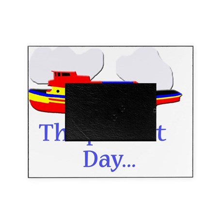 The Perfect Day Tugboat ship boating Picture Frame