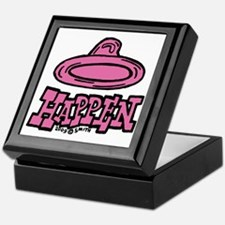 condom_happen_right_pink Keepsake Box