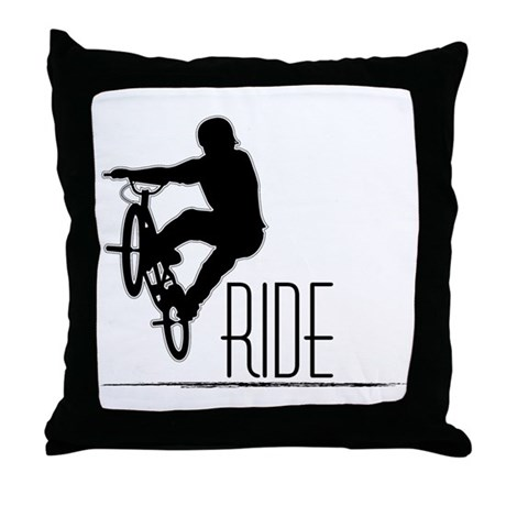 Ride Baby! Throw Pillow