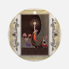 Keepsake-4 April-ADA-Packer Round Ornament