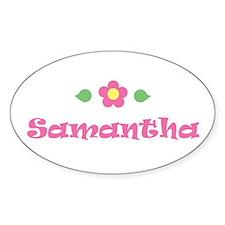 "Pink Daisy - ""Samantha"" Oval Decal"