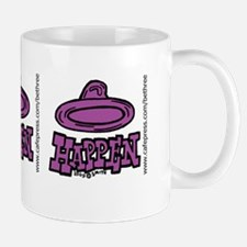 condom_happen_right_purple_bumper_stick Mug