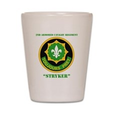 SS I - 2nd Armored Cavalry Regiment wit Shot Glass